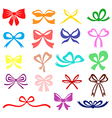 bow set color vector image