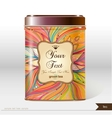 box tea with place for your text vector image vector image