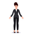 business woman in suit vector image