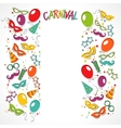 Carnival template vector image vector image