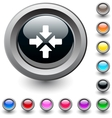 Click here round button vector image vector image