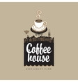coffee house with cup vector image vector image