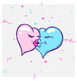 concept formula of love - heart icons of vector image vector image
