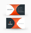 creative and clean double-sided business card vector image vector image