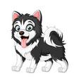 cute baby dog cartoon on white background