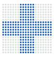 dotted cross sign for medical healthcare vector image