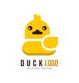duck logo original design creative badge with vector image vector image