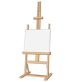 easel paint vector image vector image