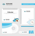 eye logo calendar template cd cover diary and usb vector image vector image
