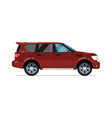 family suv car isolated icon vector image vector image