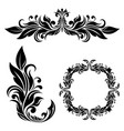 floral ornamental decorations vector image vector image