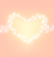 heart abstrack sparkling frame orange pink backgro vector image vector image