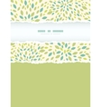 Leaf texture vertical torn frame seamless pattern vector image vector image