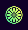 lime slice icon vector image