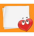 Love Note Background vector image