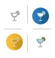 margarita cocktail icon vector image vector image