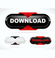modern red download button vector image
