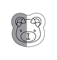 monochrome contour sticker with female teddy bear vector image