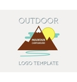 Mountain campsite campground outdoor adventure and vector image vector image