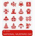 national mustard day icon set vector image