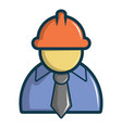 oilman icon cartoon style vector image
