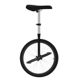 One wheel bicycle vector image