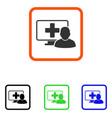 online medicine framed icon vector image