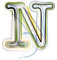 Organic Font letter n vector image vector image