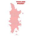 phuket map - mosaic of love hearts vector image vector image