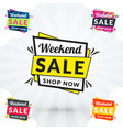 promotional badges and sale tags vector image