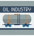 Railway tank with oil background vector image vector image