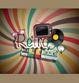 retro background with vintage objects vector image vector image
