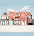 retro store building front vector image vector image