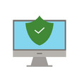 safe pc icon vector image
