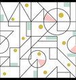 seamless pattern with geometric modern thin shapes vector image vector image