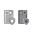 security document line and glyph icon privacy and vector image vector image