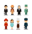 set different people professions vector image