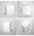 Set of blank white packaging boxes for design vector image