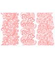 set of lacy vintage elegant trims vector image vector image