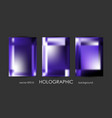 set of trendy holographic backgrounds for cover vector image vector image