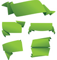 set origami banners vector image vector image
