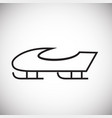 sleigh thin line on white background vector image