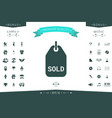 sold tag symbol vector image