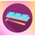 soy sauce gravy boat chopsticks vector image