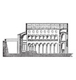 st agnes basilica its a section of basilica faces vector image vector image