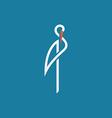 Stork outline logo sign flat vector image vector image