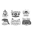 summer time retro labels set enjoy holidays vector image vector image