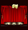 theatre stage with masks vector image vector image