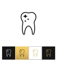 Tooth care and dental cleaning icon vector image
