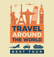 travel poster with famous vector image